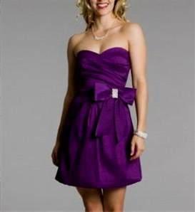 royal purple short dresses