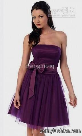 short dark purple prom dress review