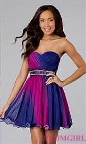 short purple prom dress