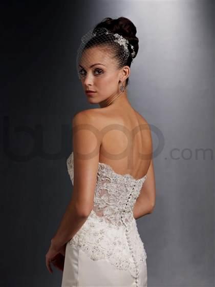 strapless low back wedding dresses