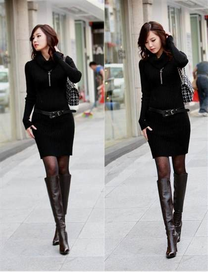 sweater dresses with belt