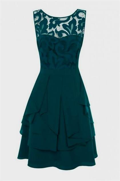 teal lace dress