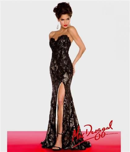 vintage black lace prom dress