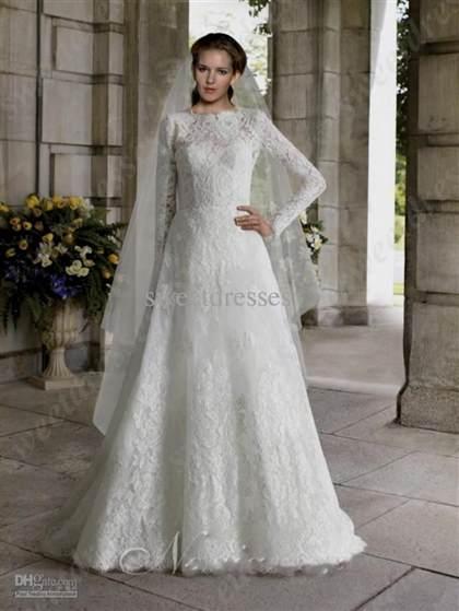vintage long white lace dress