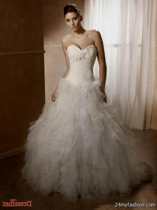 wedding dresses ball gown ruffles