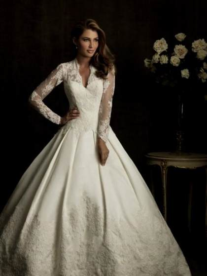 wedding dresses with lace sleeves