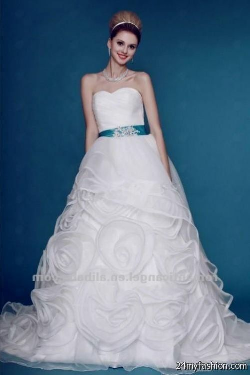 white and baby blue wedding dresses review