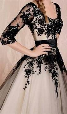 white and black lace prom dresses
