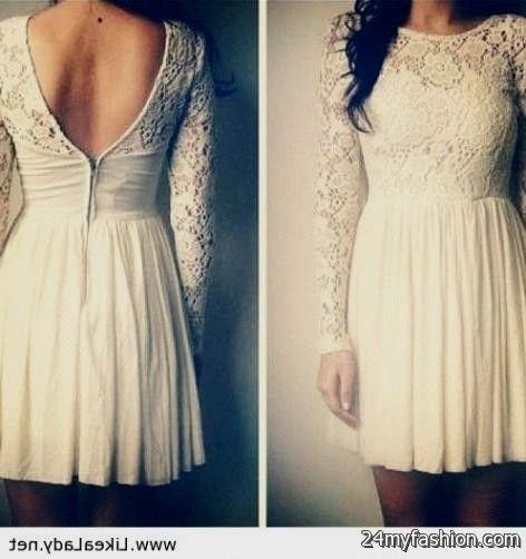 white lace dress tumblr review