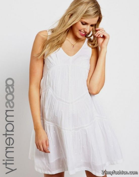 white maternity summer dress review
