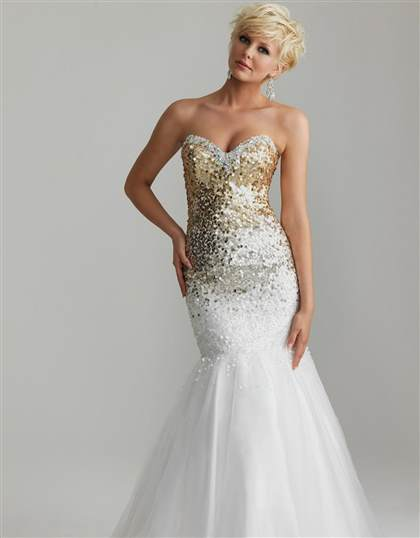 white mermaid prom dresses
