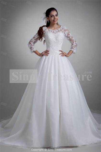 white wedding dress with sleeves