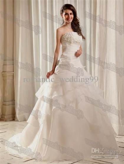 white wedding dresses with diamonds on the top