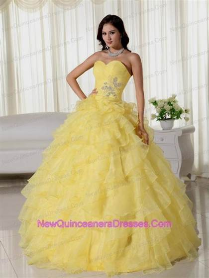 yellow dresses for quinceaneras