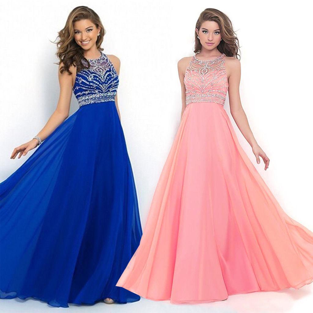 Gowns For Women: Amazing Women Long Chiffon Dress Formal Evening Party