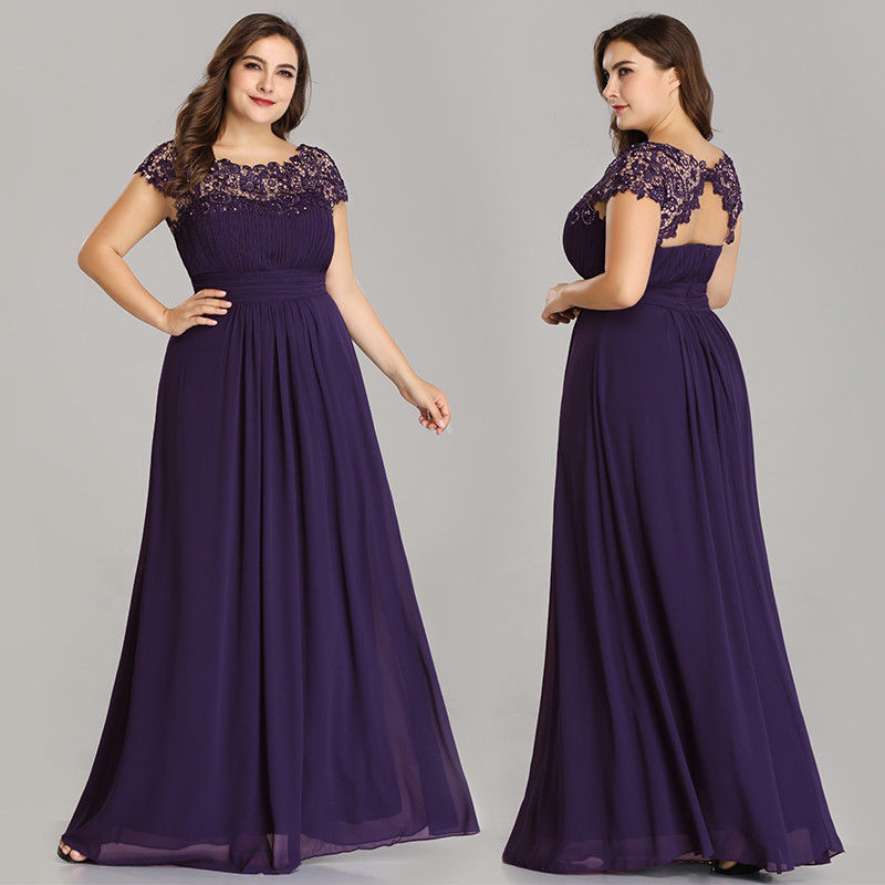 25c4a6309a2 Ever-Pretty US Plus Size Long Chiffon Dress Bridesmaid Evening Prom Gown  09993