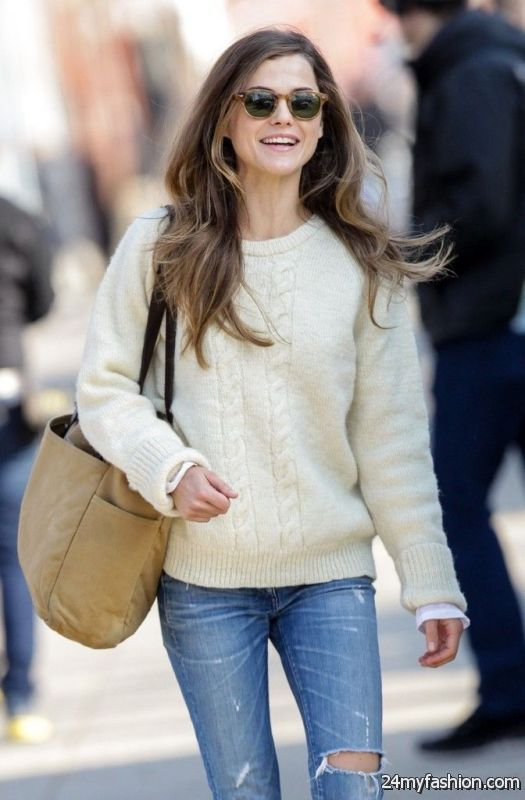 25 Chic Ways To Wear A Knitted Sweater 2019-2020