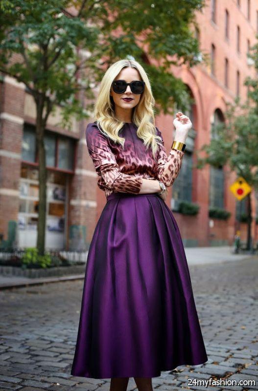 30 Cute Ways To Wear A Midi Skirt 2019-2020