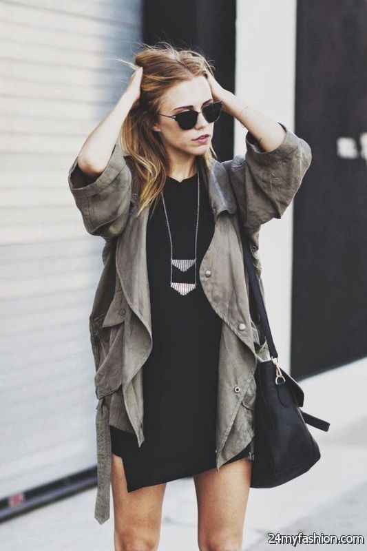 Army Jacket Outfits For Women 2019-2020