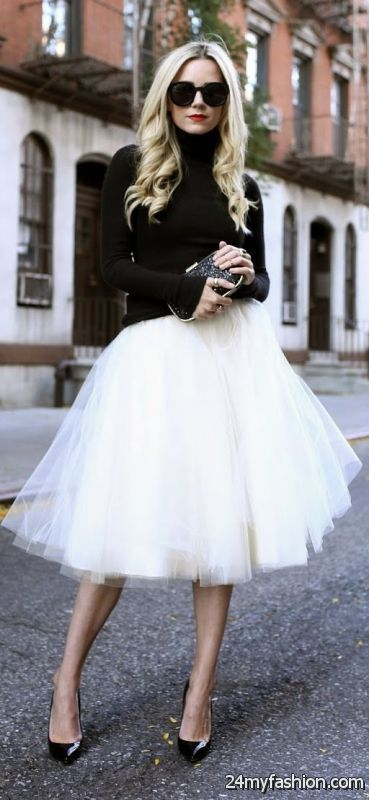 Different Ways To Style Tulle Skirts 2019-2020