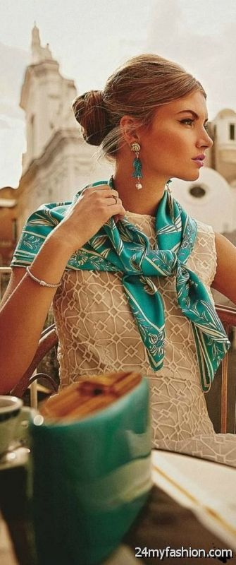 Elegant Outfit Ideas With Scarves 2019-2020