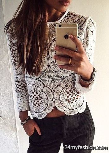 Hottest Tops, Crop Tops And Blouses - 20 Outfit Ideas 2019-2020