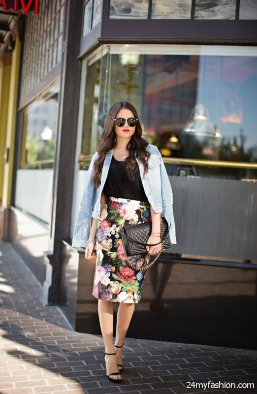 How To Style Tea Length Pencil Skirts 2019-2020