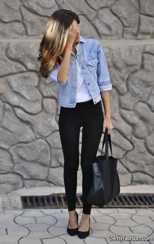 Jean Jacket With Gray Pants
