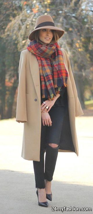 How To Wear A Plaid Scarf With A Coat 2019-2020