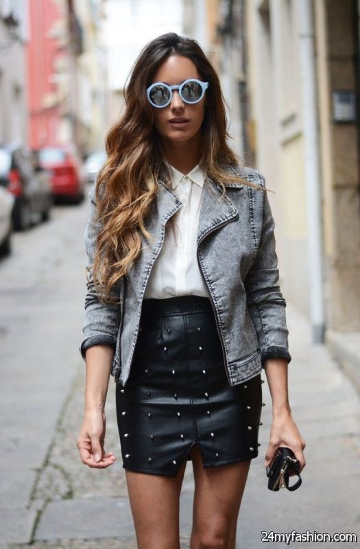 How To Wear Black Leather Skirts 2019-2020