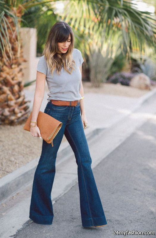 How To Wear Flared Jeans (Outfit Ideas) 2019-2020