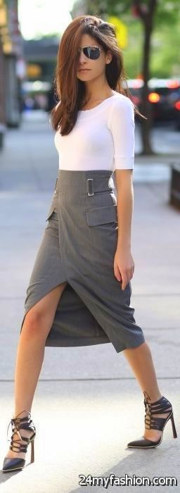 How To Wear High Waisted Skirts 2019-2020