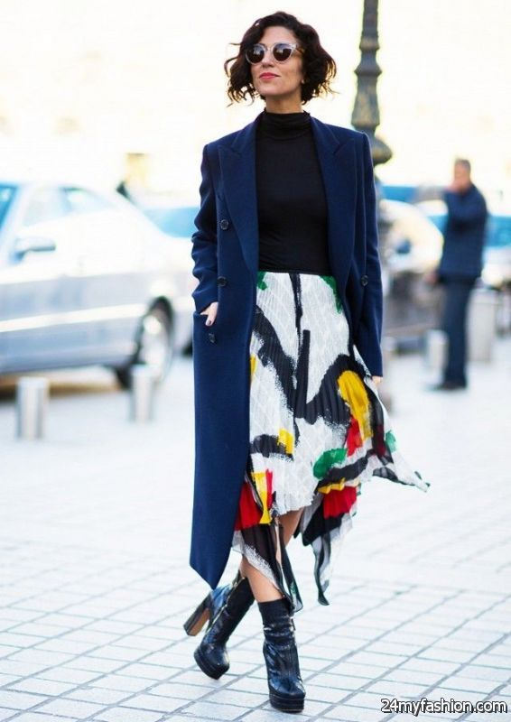 How To Wear Printed Skirts This Winter 2019-2020