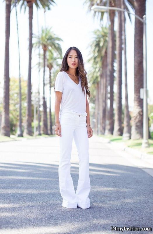 How To Wear White Jeans (Outfit Ideas) 2019-2020