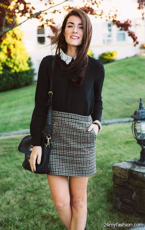 Office Skirts Combinations And Work Outfit Ideas 2019-2020