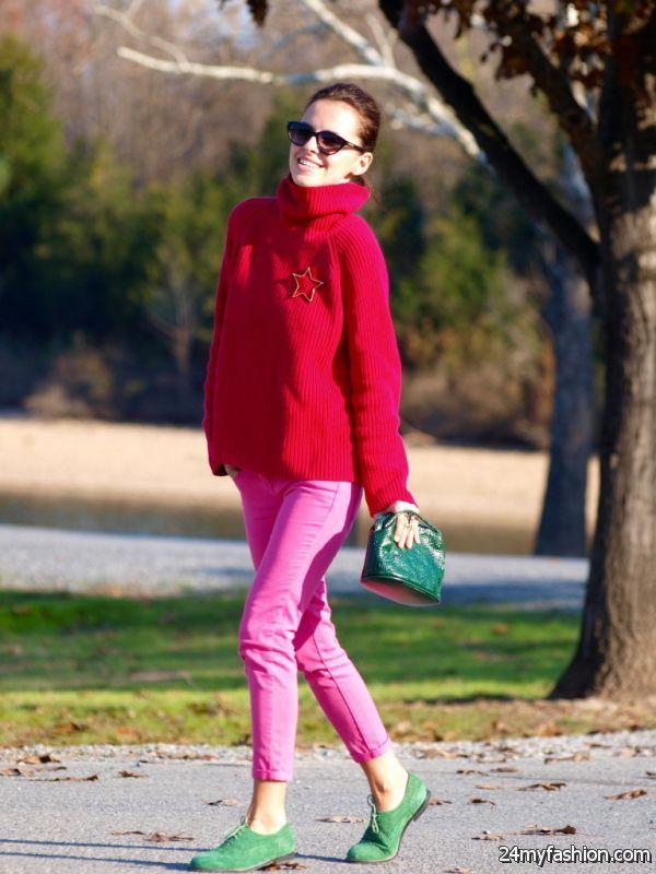 Outfit Ideas: Bright Color Pants 2019-2020
