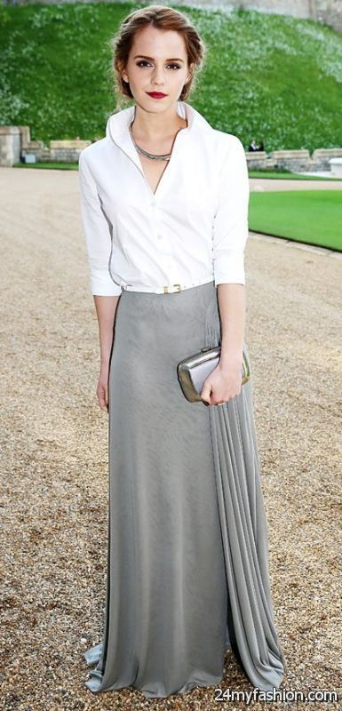 Statement Maxi Skirts Outfits 2019-2020