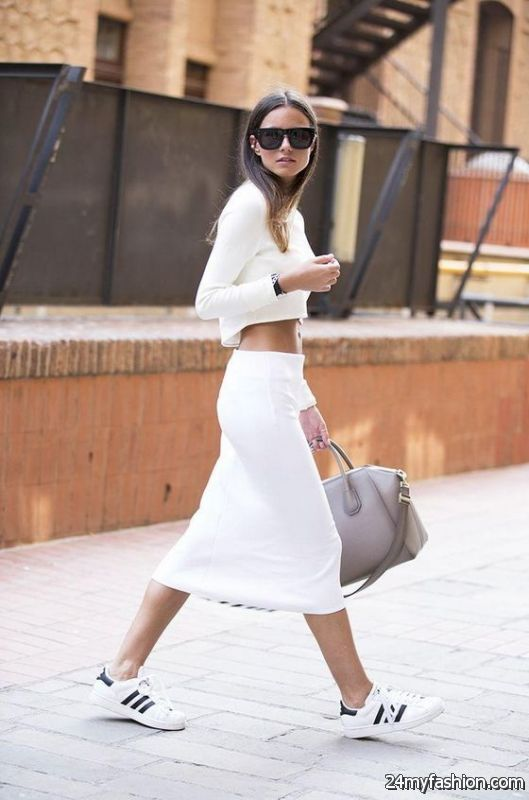 Women's Outfit Ideas With White Sneakers 2019-2020