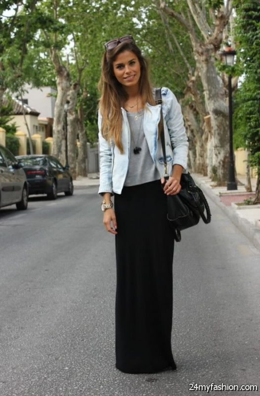 Long And Maxi Skirts Outfit Ideas 2019-2020
