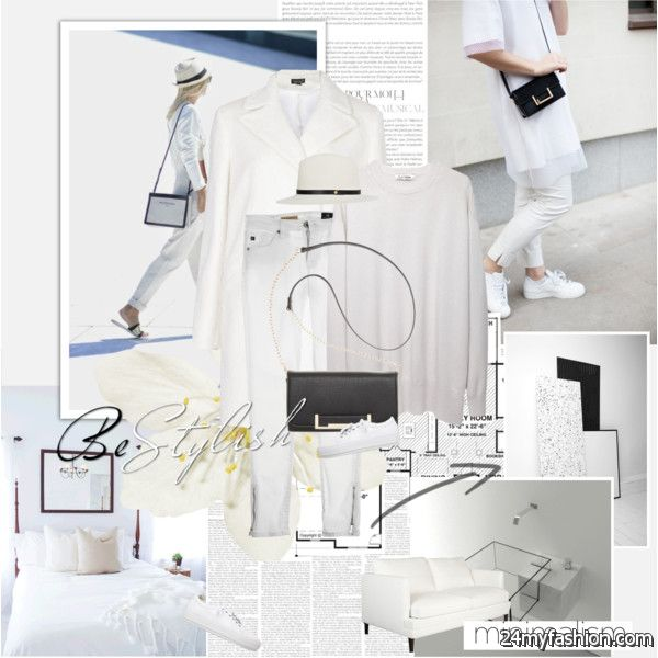All White Outfits With Blazer For Women 2020-2021