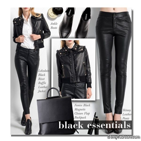 Black Leather Jackets Simple Looks To Copy 2020-2021